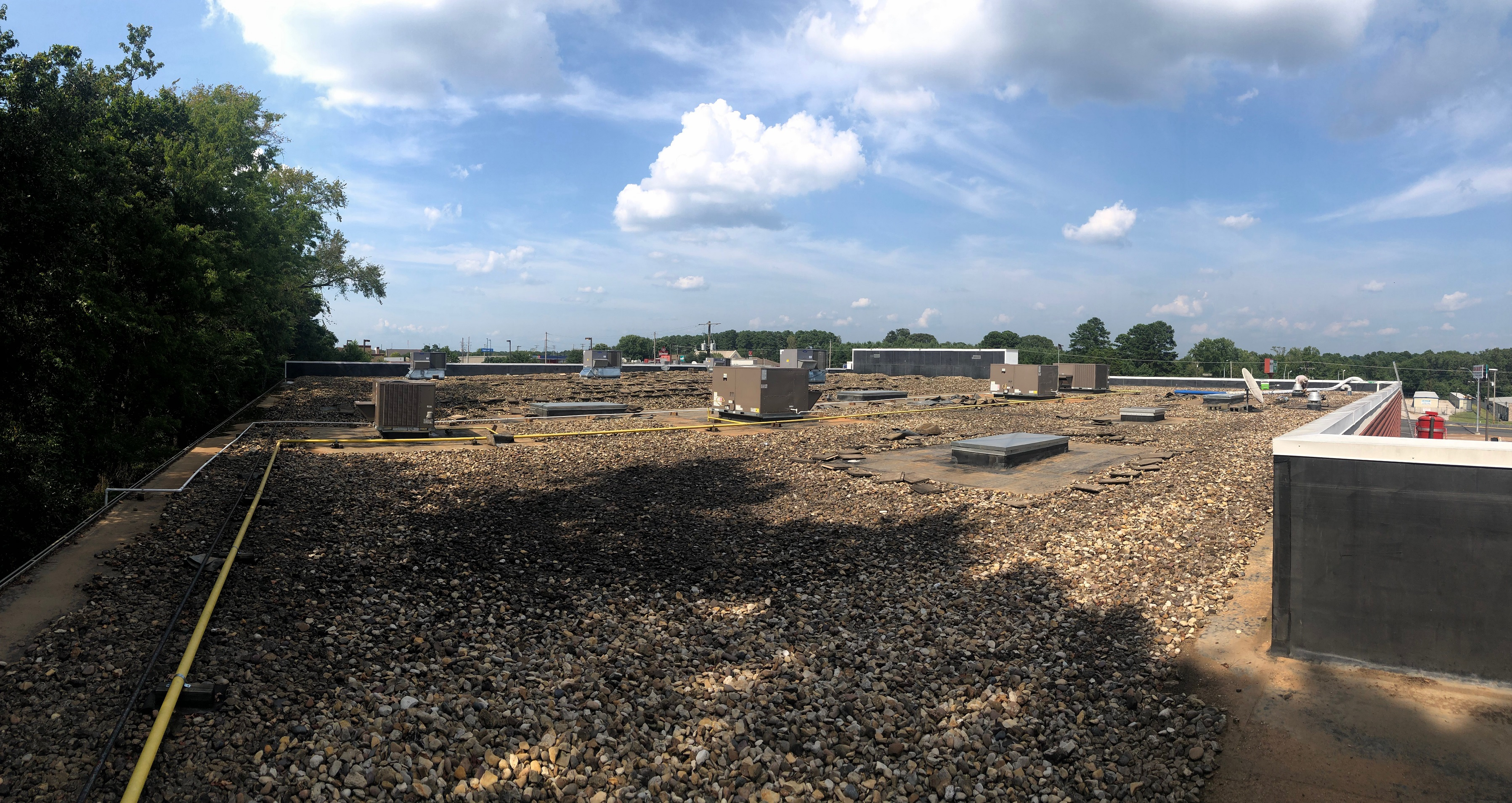 East Texas Roof Coating on Ballasted EPDM - Roofers ...