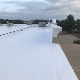 Silicone on Built Up Roof