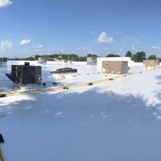 EPDM Roof After Silicone Coating